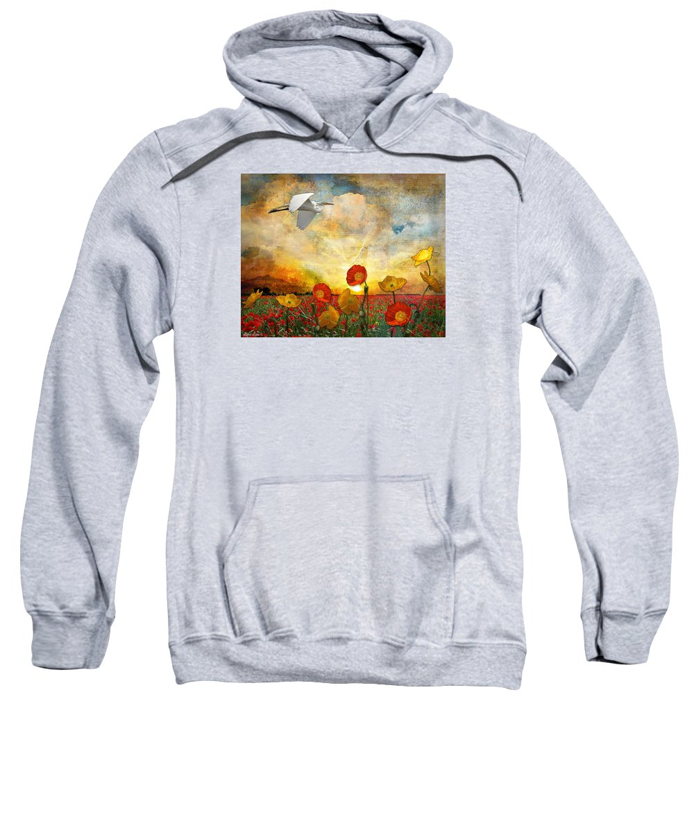 Landscape Sweatshirt featuring the digital art Choose To Fly by Laura Lipke
