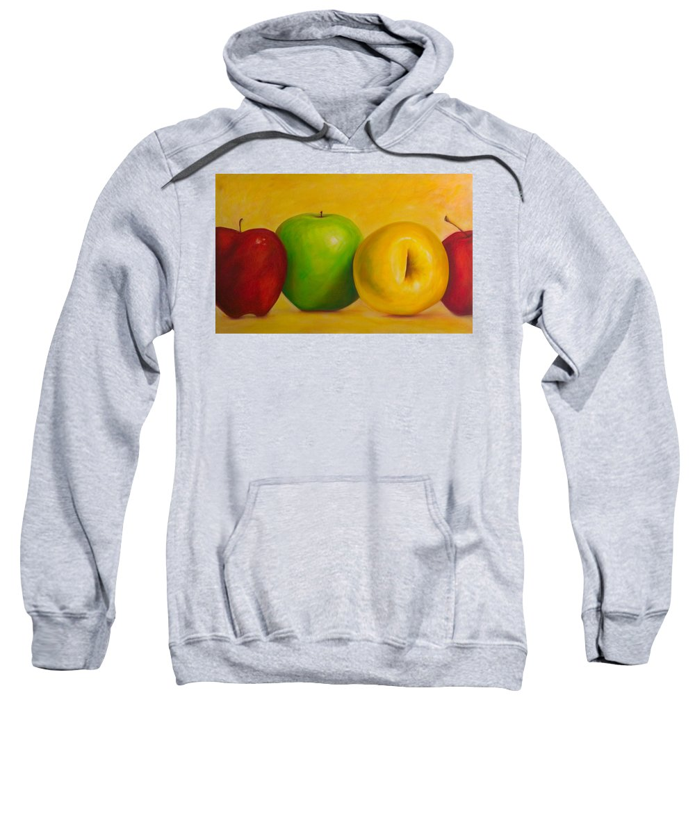 Still Life Sweatshirt featuring the painting Chorus Line by Shannon Grissom