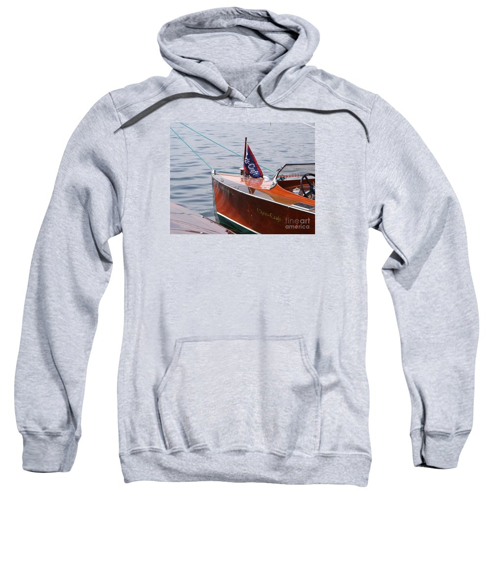 Chris Craft Sweatshirt featuring the photograph Chris Craft Runabout by Neil Zimmerman