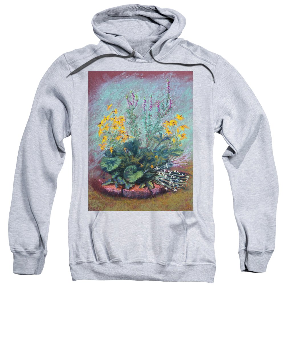 Flowers Sweatshirt featuring the painting Christina's Garden by Laurie Paci