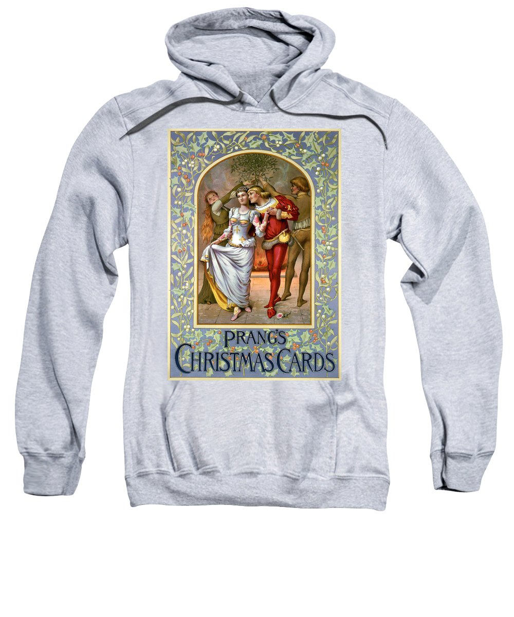 1886 Sweatshirt featuring the photograph Christmas Cards, C1886 by Granger