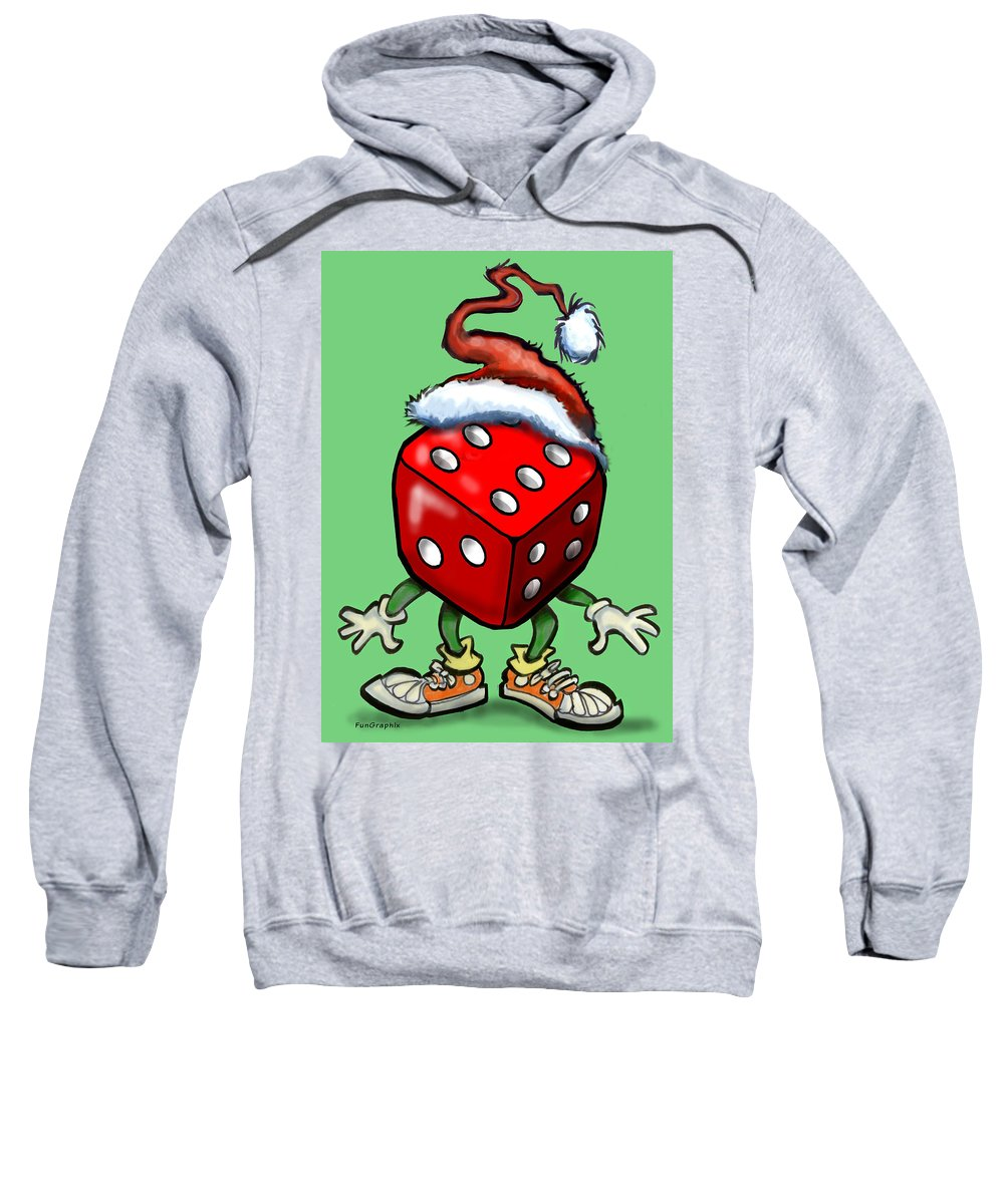 Christmas Sweatshirt featuring the greeting card Christmas Casino Party by Kevin Middleton