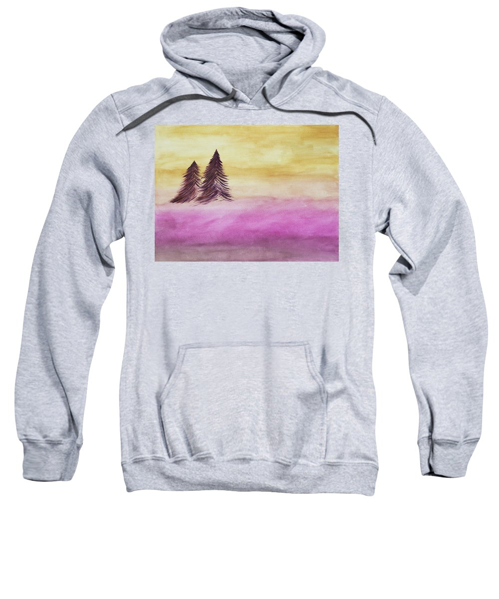 Christmas Sweatshirt featuring the painting Christmas Evening by Sarah Kate