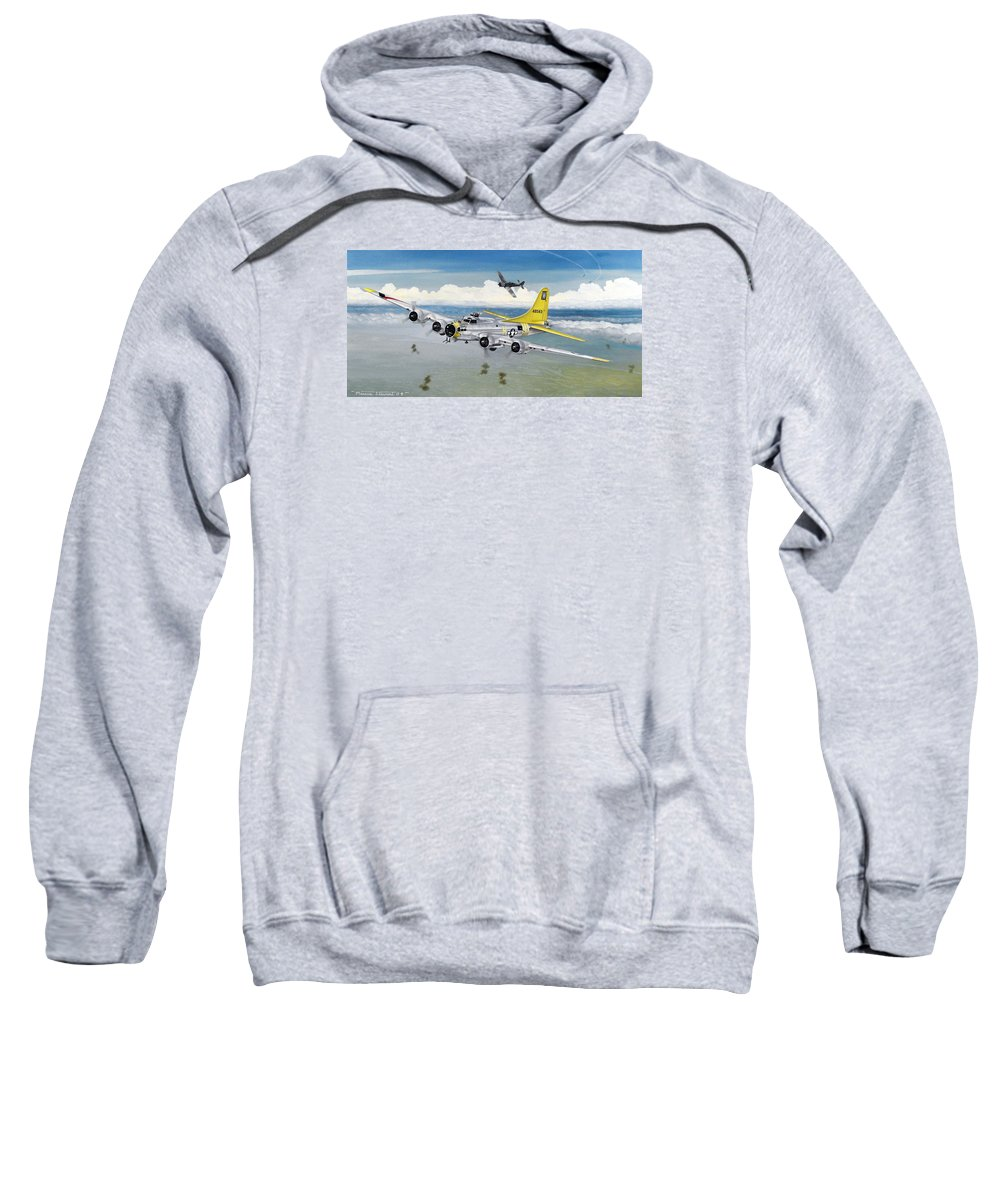 B-17 Sweatshirt featuring the painting Chuckie by Marc Stewart