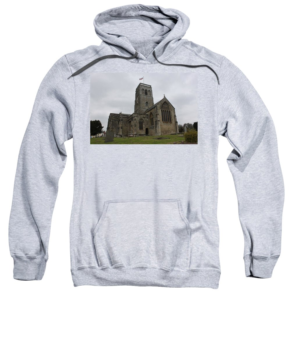 Wedmore Sweatshirt featuring the photograph Church Of St. Mary's - Wedmore by Lauri Novak