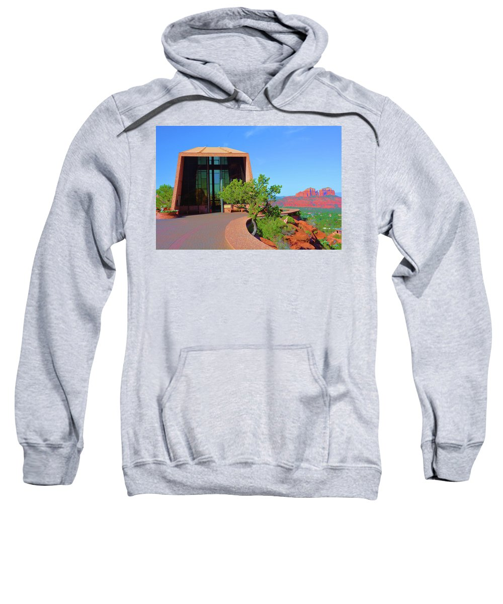 Church Sweatshirt featuring the photograph Church Of The Holy Cross by Richard Jenkins