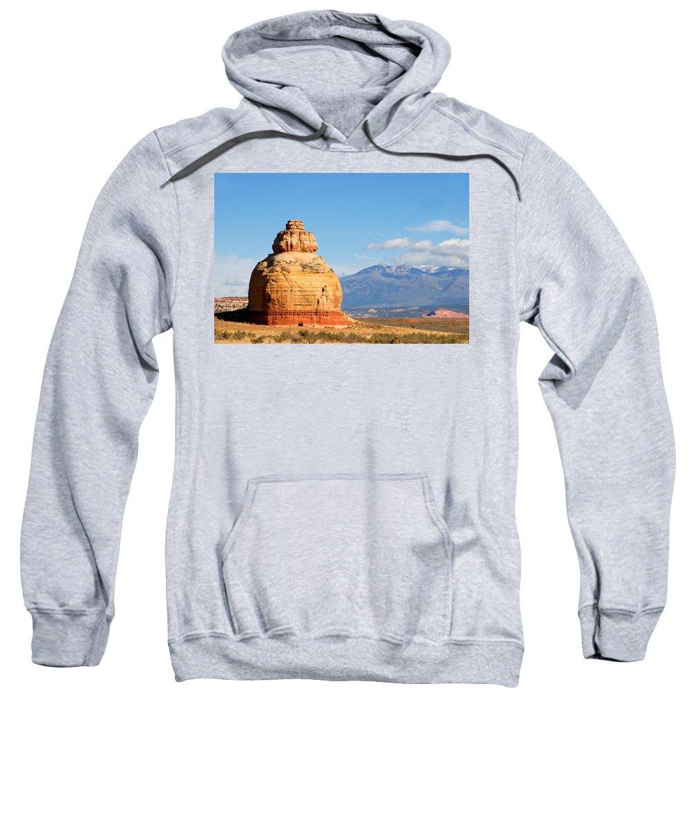 Church Rock Utah Sweatshirt featuring the photograph Church Rock Utah by David Lee Thompson