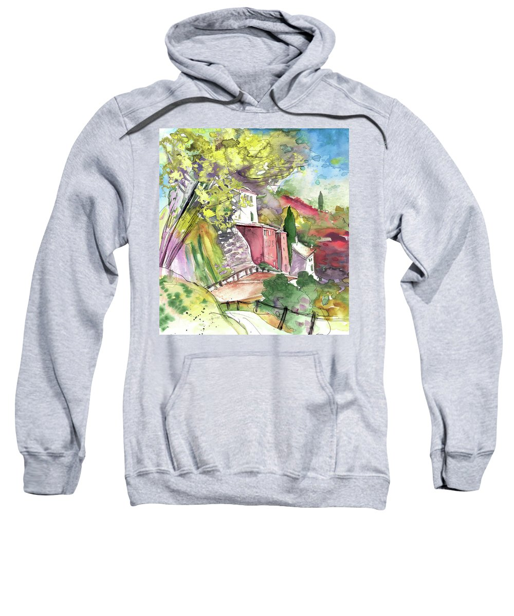 Italy Sweatshirt featuring the painting Cinque Terre 01 by Miki De Goodaboom