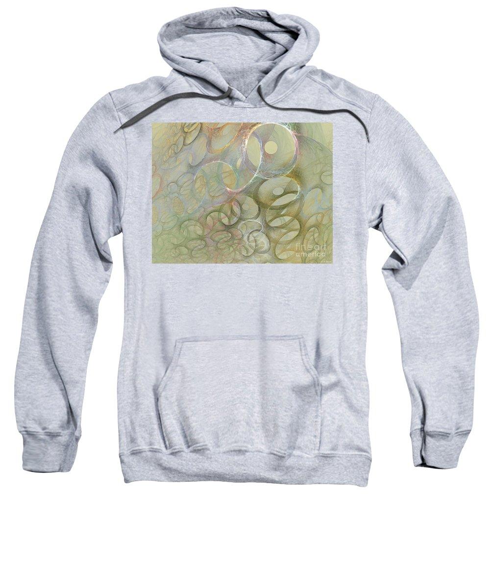 Fractal Sweatshirt featuring the digital art Circles In Circles by Deborah Benoit