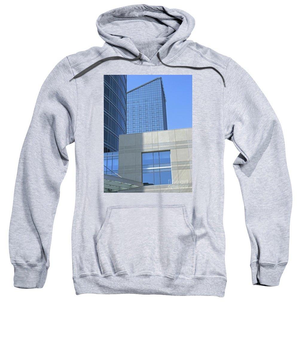 Blue Sweatshirt featuring the photograph City Blues by Ann Horn