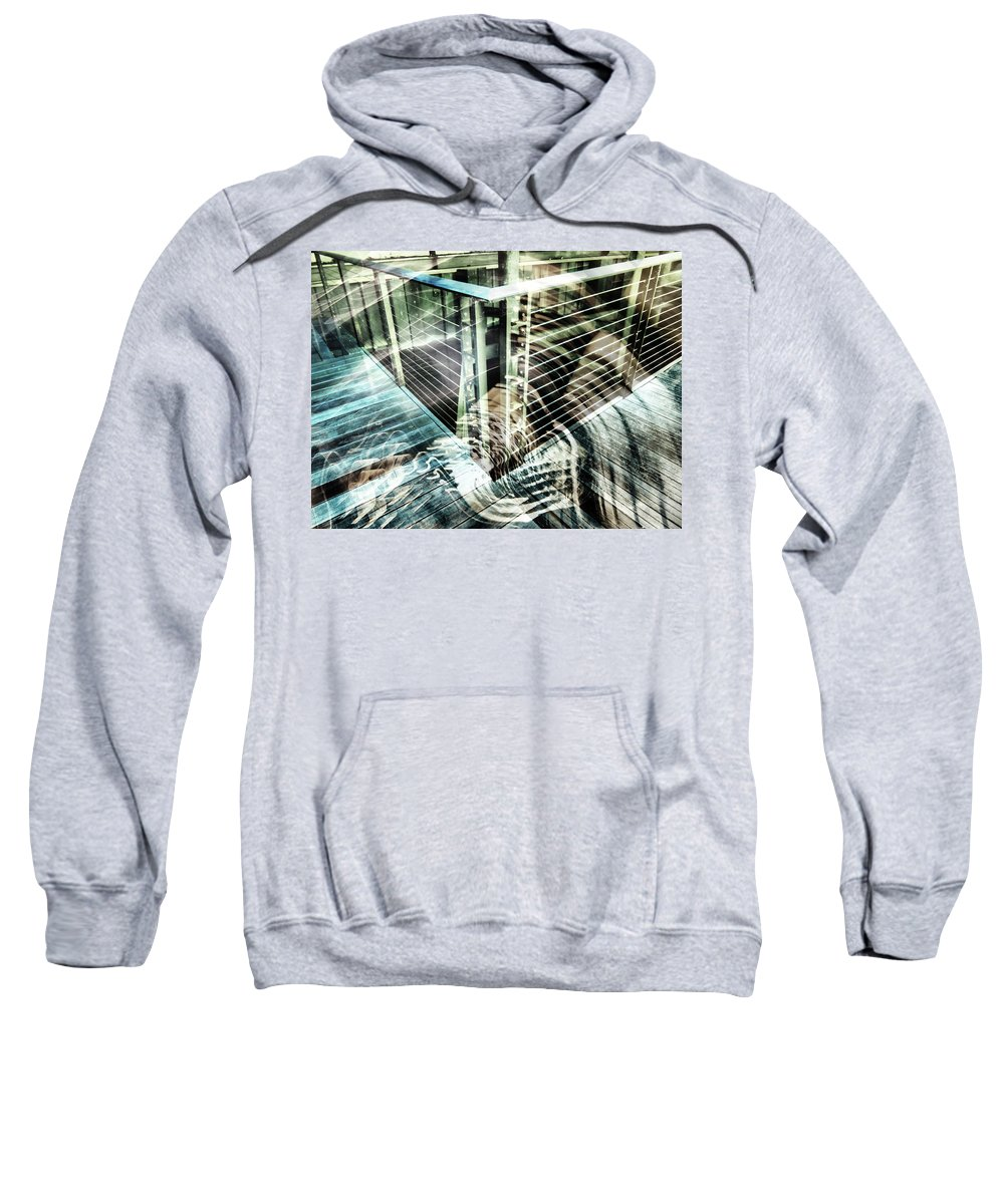 City Sweatshirt featuring the photograph City In Motion 75 by Don Zawadiwsky