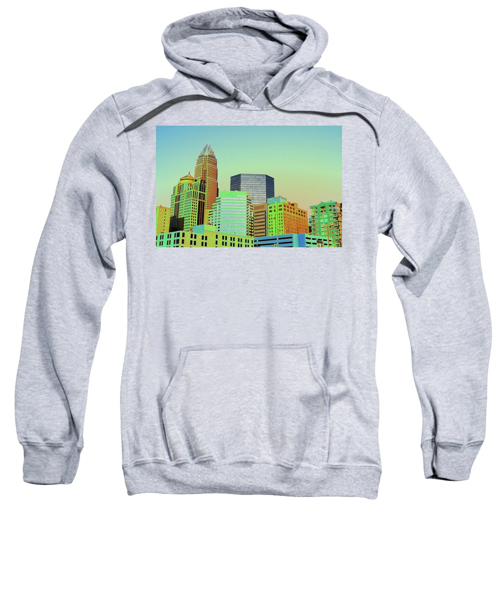 Charlotte Sweatshirt featuring the photograph City Of Colors by Karol Livote