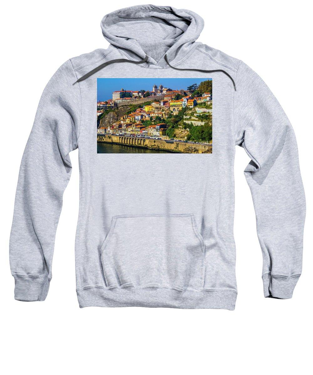 Porto Sweatshirt featuring the photograph City On A Hillside by Roberta Bragan