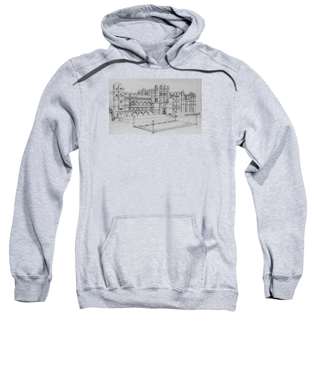Palace Sweatshirt featuring the painting City Palace Of Udaipur by Yash