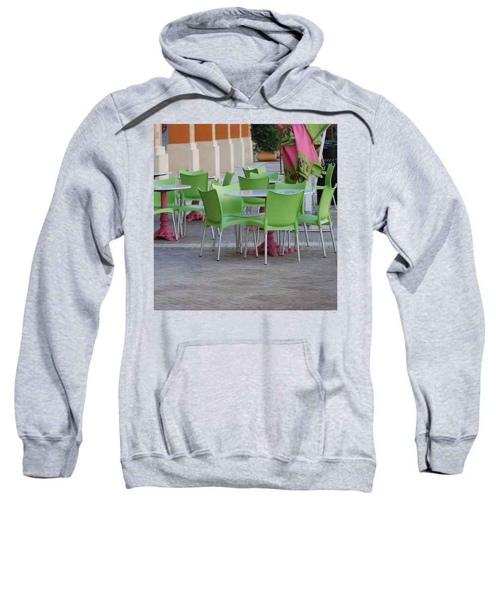 Chairs Sweatshirt featuring the photograph City Place Seats by Rob Hans
