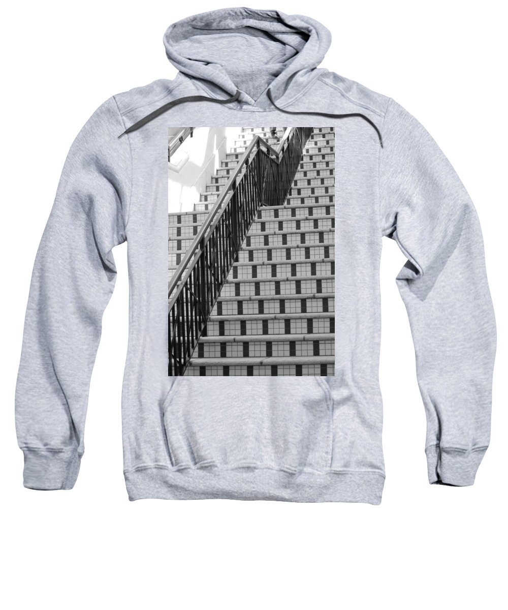 Architecture Sweatshirt featuring the photograph City Stairs II by Rob Hans