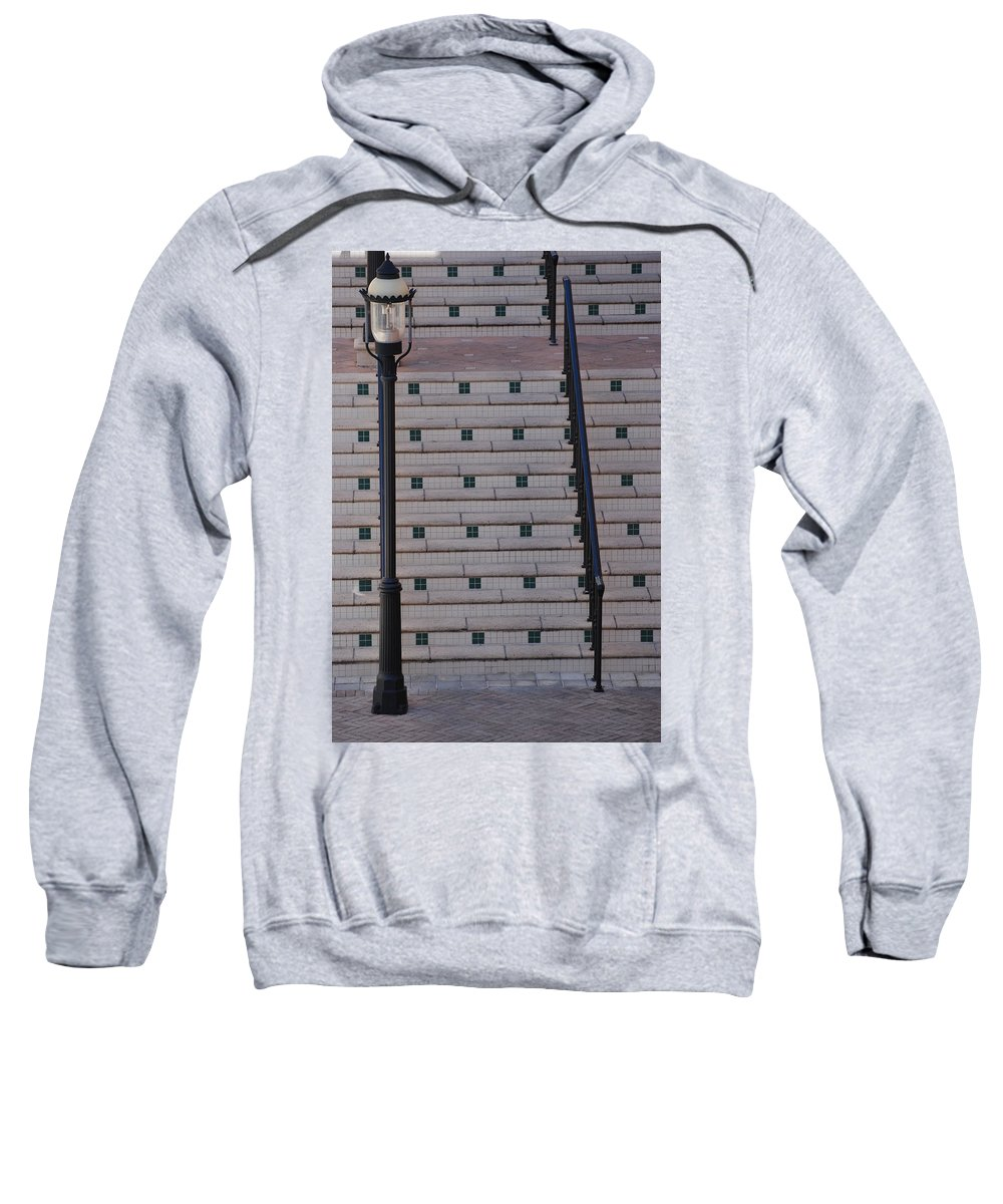 Architecture Sweatshirt featuring the photograph City Stairs by Rob Hans