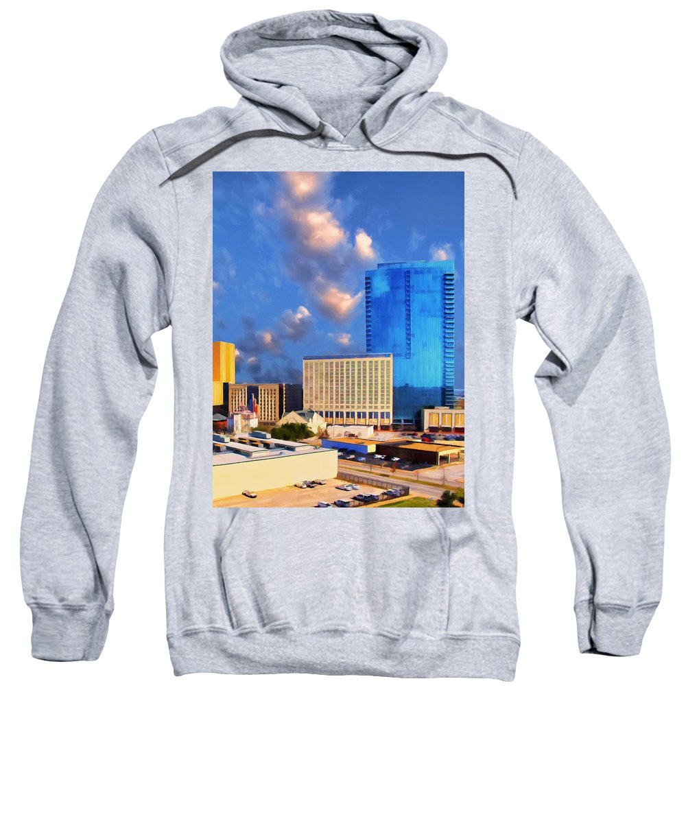 City Sweatshirt featuring the painting Cityscape 2 by Dominic Piperata
