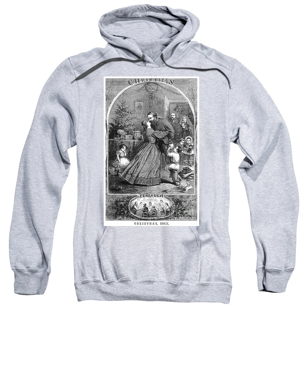 1863 Sweatshirt featuring the photograph Civil War: Christmas by Granger