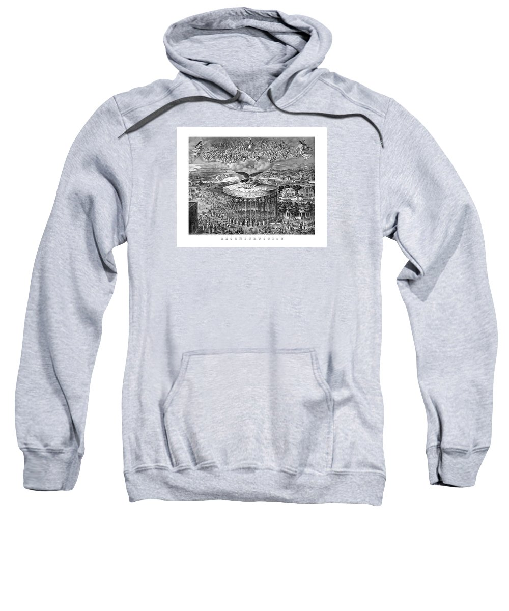 Civil War Sweatshirt featuring the painting Civil War Reconstruction by War Is Hell Store