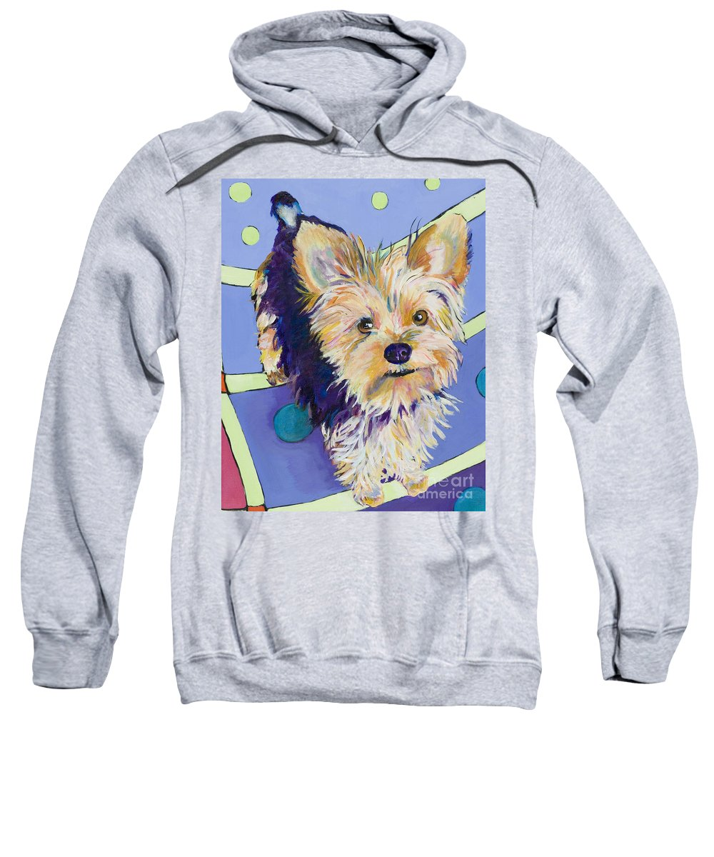 Pet Portraits Sweatshirt featuring the painting Claire by Pat Saunders-White