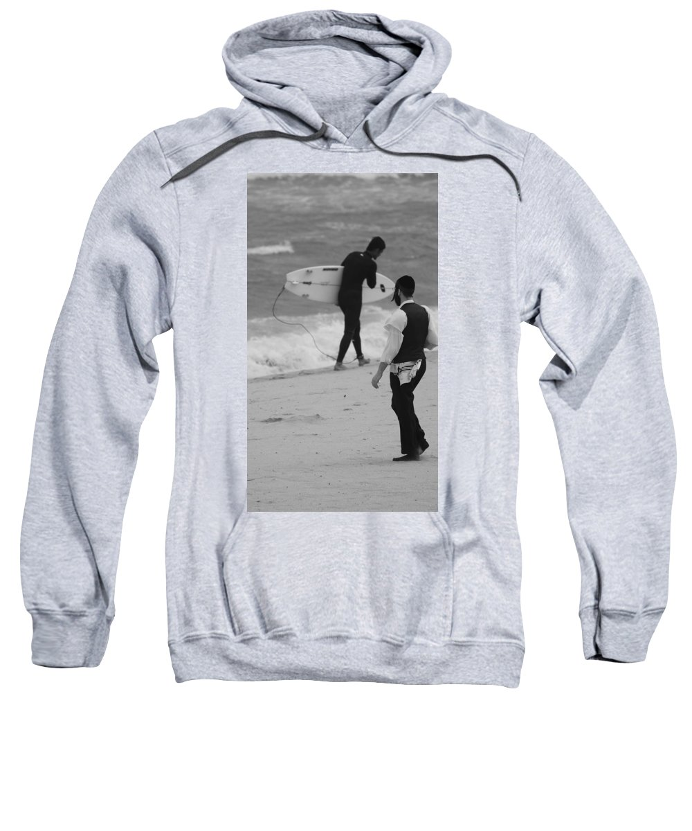 Black And White Sweatshirt featuring the photograph Clash Of Cultures by Rob Hans