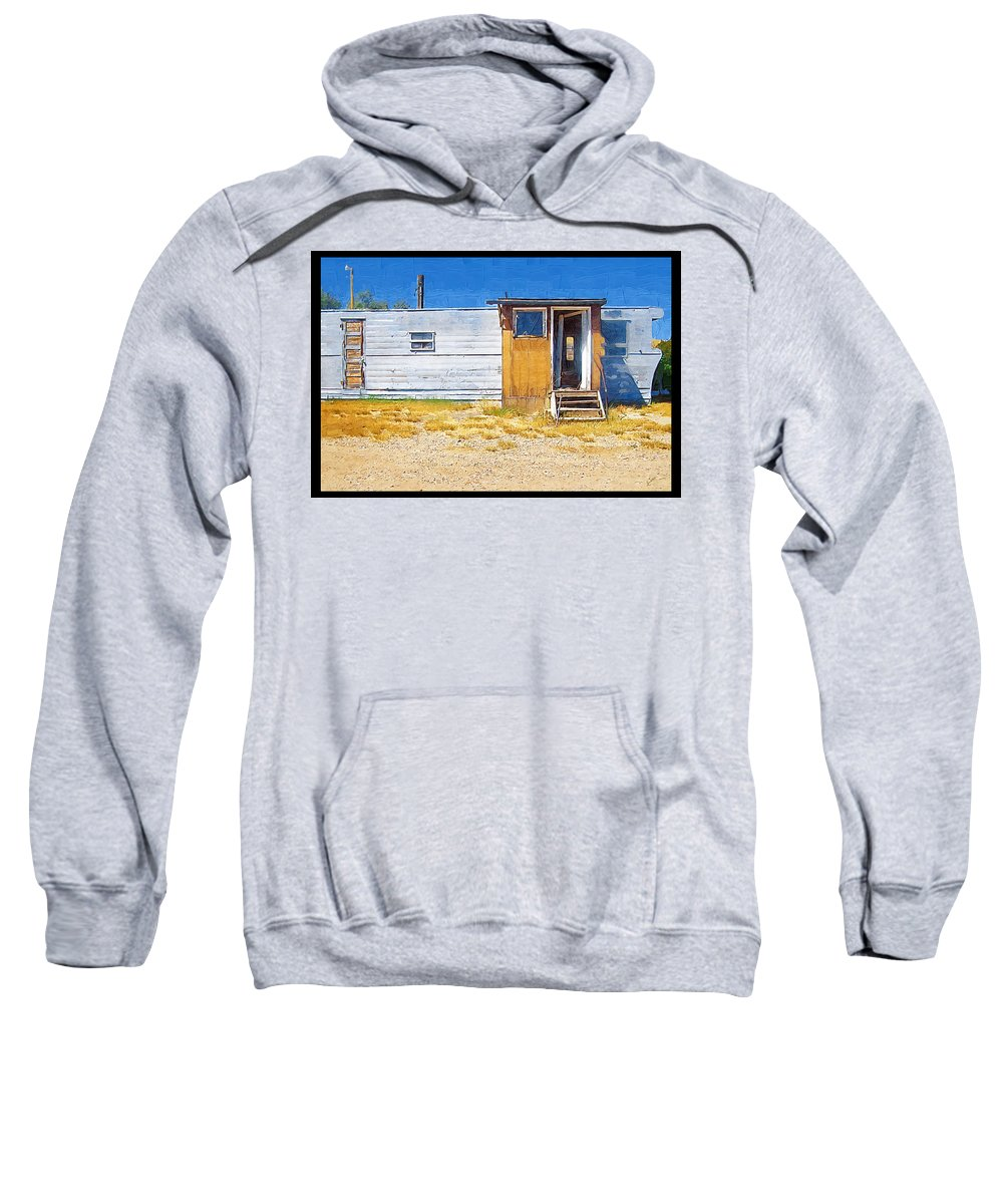 Window Sweatshirt featuring the photograph Classic Trailer by Susan Kinney