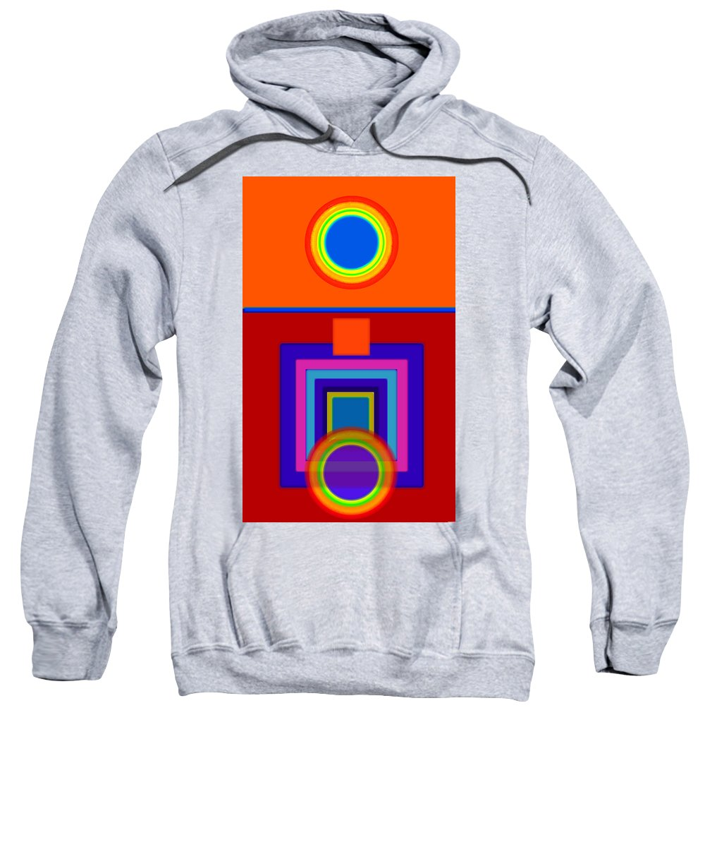 Classical Sweatshirt featuring the painting Classical Wheels by Charles Stuart