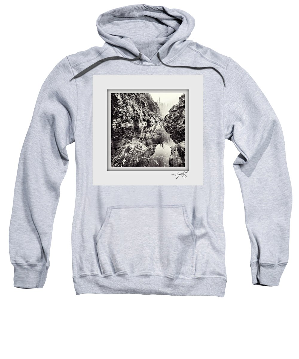 Columbia Gorge Sweatshirt featuring the photograph Clear Creek by Ingrid Smith-Johnsen