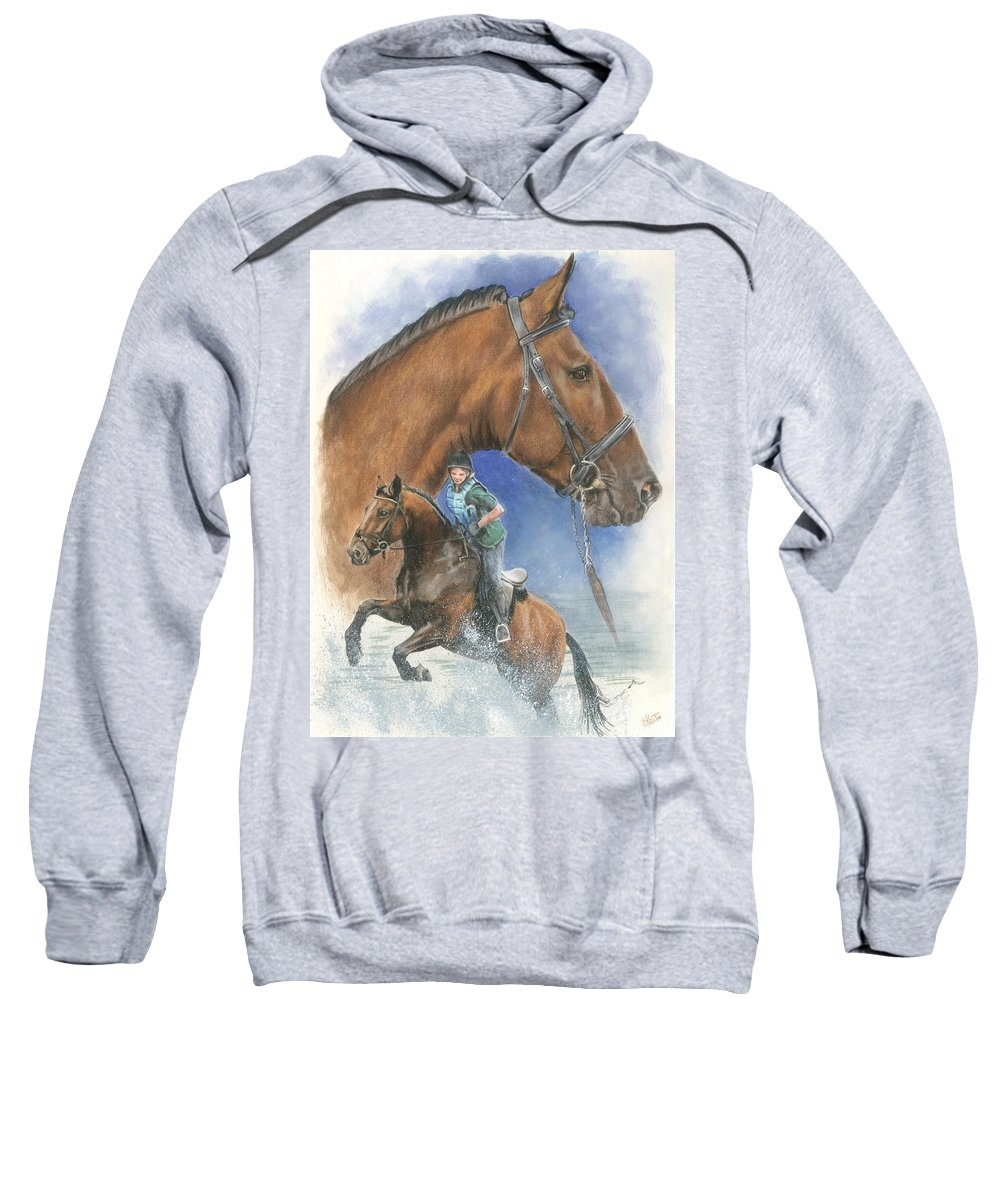Hunter Jumper Sweatshirt featuring the mixed media Cleveland Bay by Barbara Keith