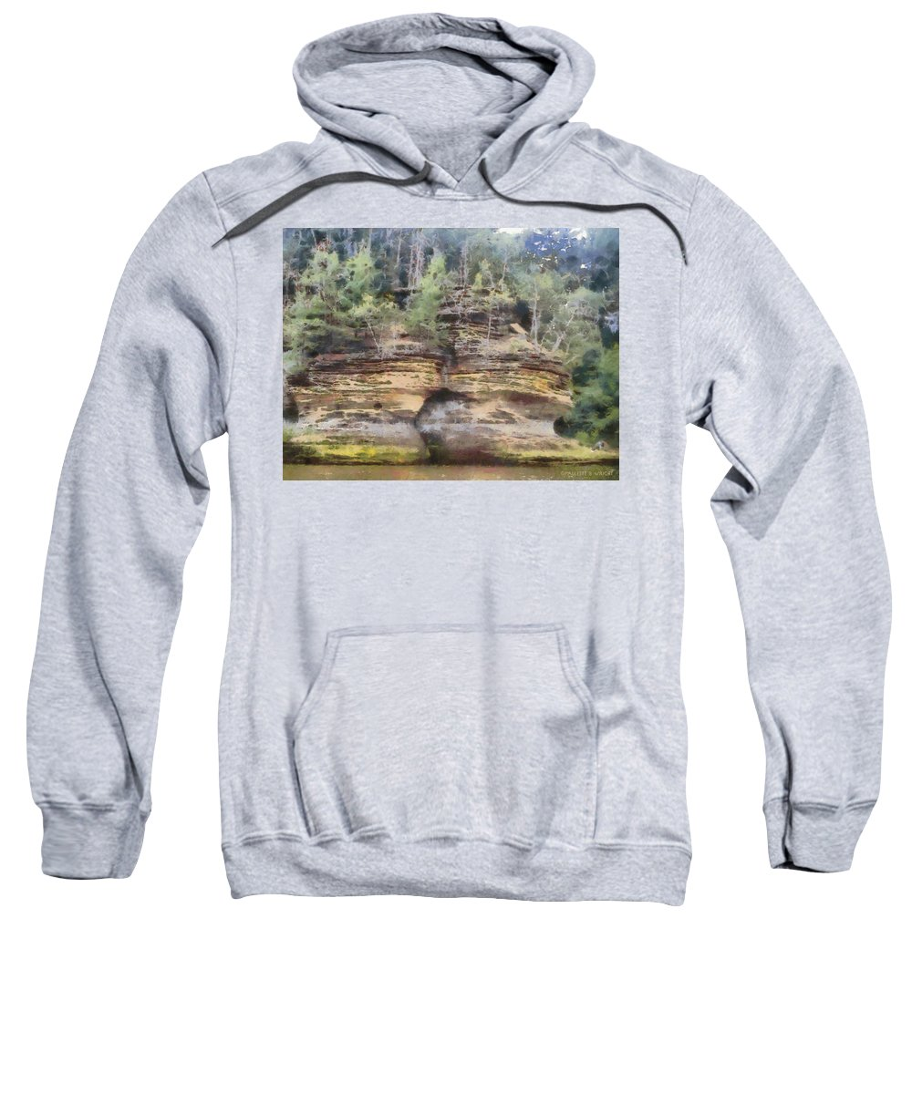 Wright Sweatshirt featuring the photograph Cliffs At The Dells by Paulette B Wright