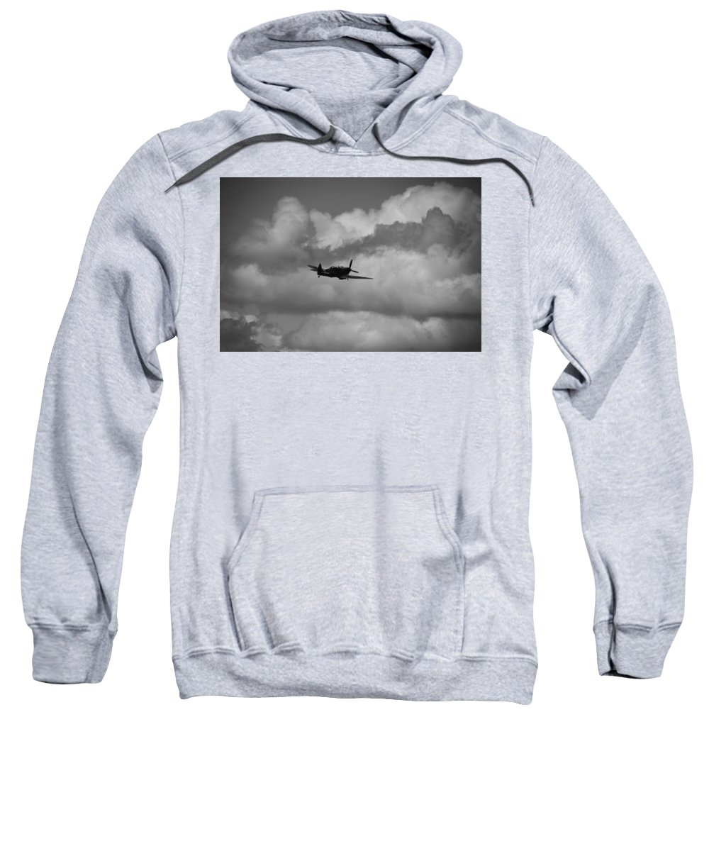 Supermarine Spitfire Tr Ix Sweatshirt featuring the photograph Climb Into The Clouds by Robert Phelan