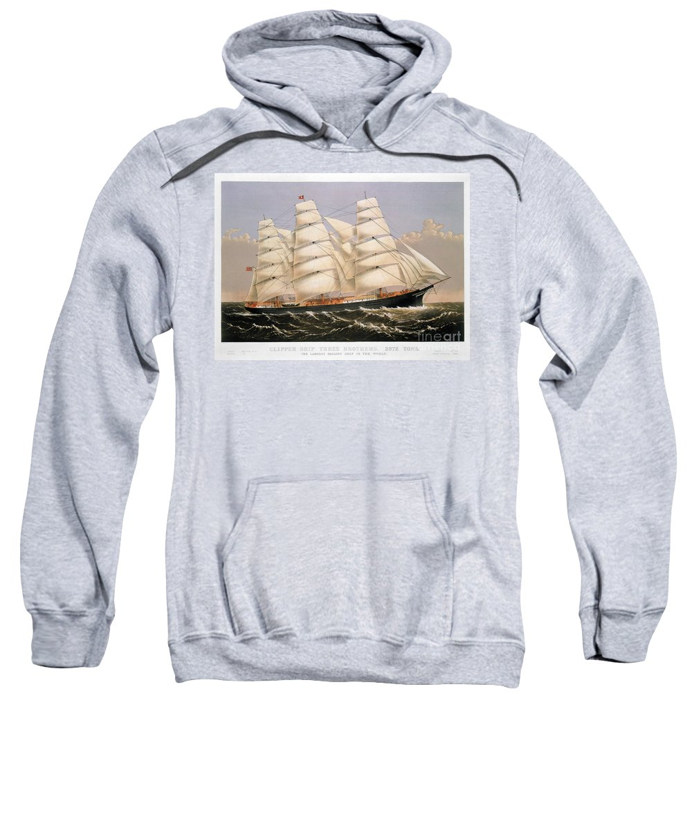 1875 Sweatshirt featuring the photograph Clipper Ship, 1875 by Granger