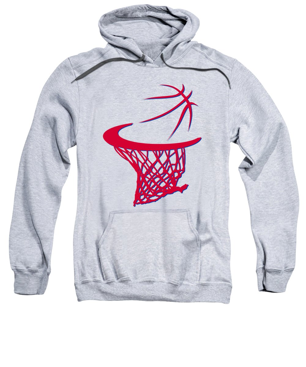 Clippers Sweatshirt featuring the photograph Clippers Basketball Hoop by Joe Hamilton