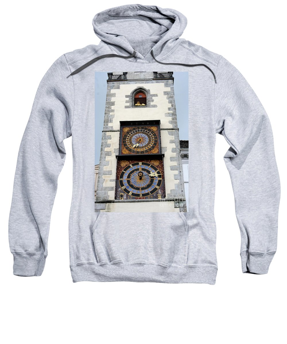 Clock Sweatshirt featuring the photograph Clock Tower by Christiane Schulze Art And Photography