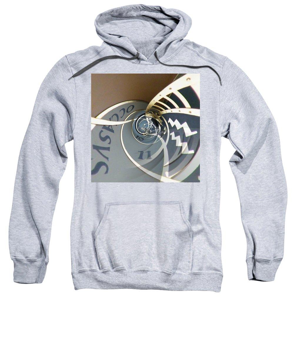 Clock Sweatshirt featuring the photograph Clockface 6 by Philip Openshaw