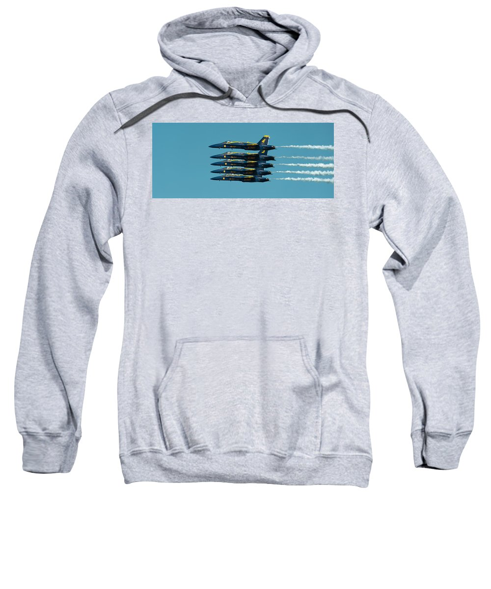 Us Navy Sweatshirt featuring the photograph Cloning by Sebastian Musial