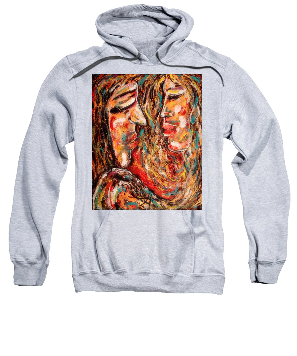 Romantic Sweatshirt featuring the painting Close Encounter by Natalie Holland
