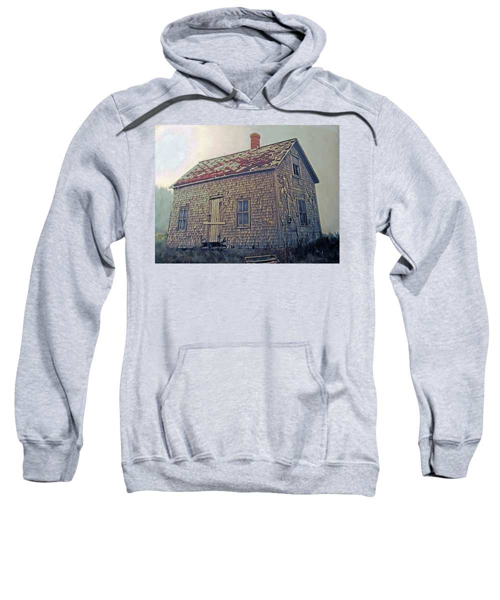 Shack Sweatshirt featuring the photograph Closed by Ian MacDonald