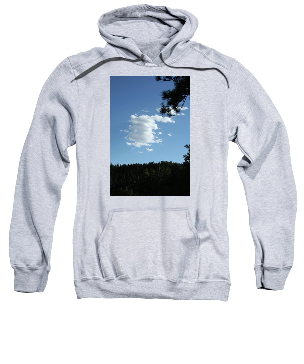 Cloud Sweatshirt featuring the photograph Cloud Busting by Ric Bascobert