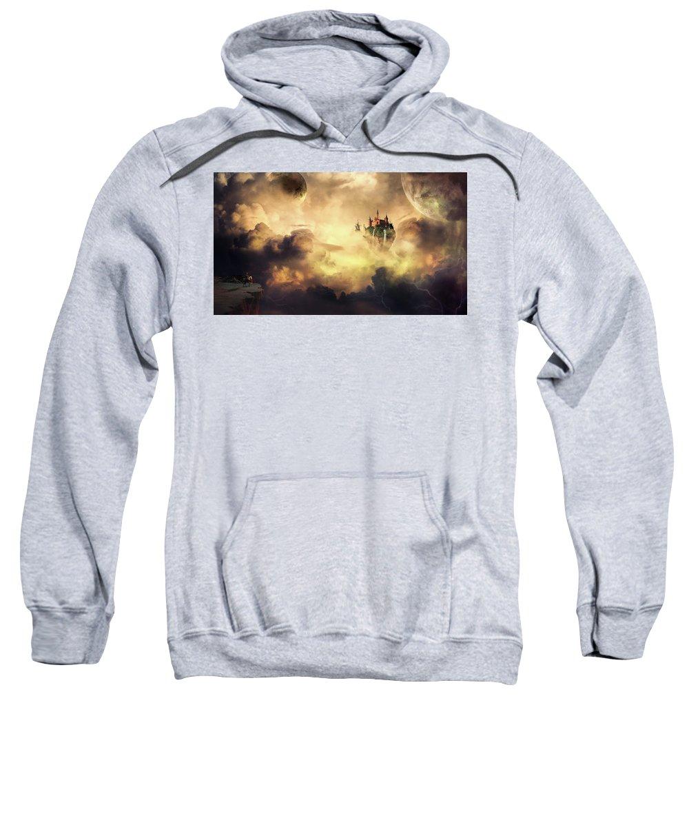 Fantasy Art Sweatshirt featuring the photograph Cloud Castle by Ponte Ryuurui