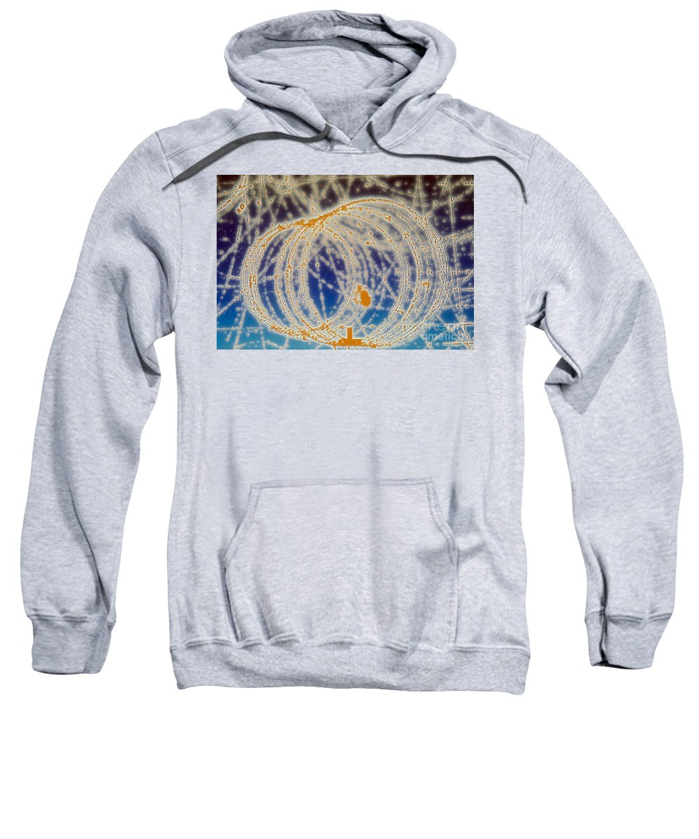Subatomic Track Sweatshirt featuring the photograph Cloud Chamber by Photo Researchers