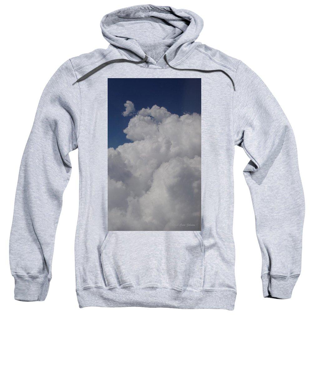Clouds Sweatshirt featuring the photograph Cloud Depth I by Deborah Crew-Johnson