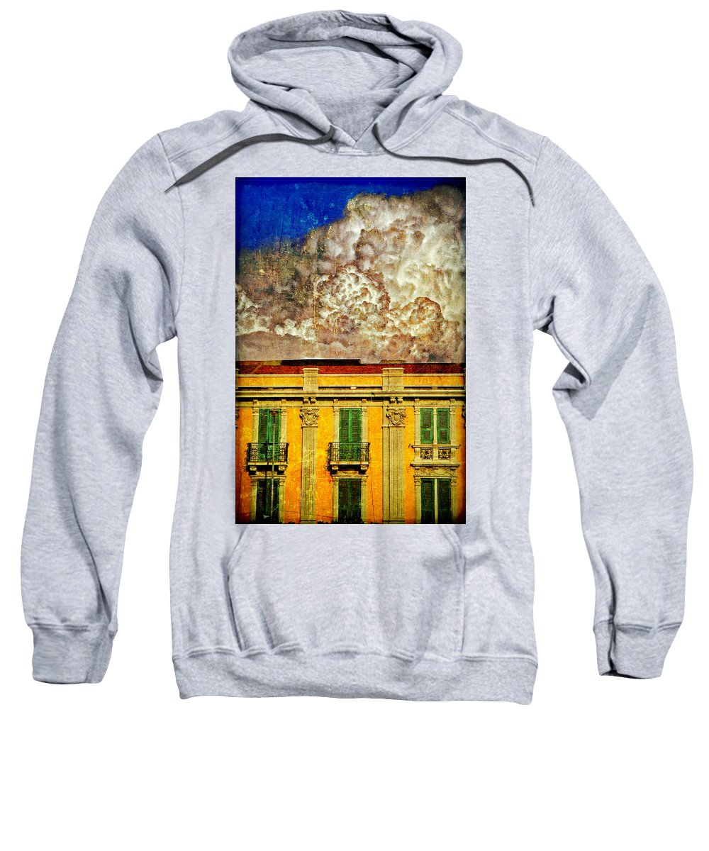 Building Sweatshirt featuring the photograph Cloud Like Whipped Cream by Silvia Ganora
