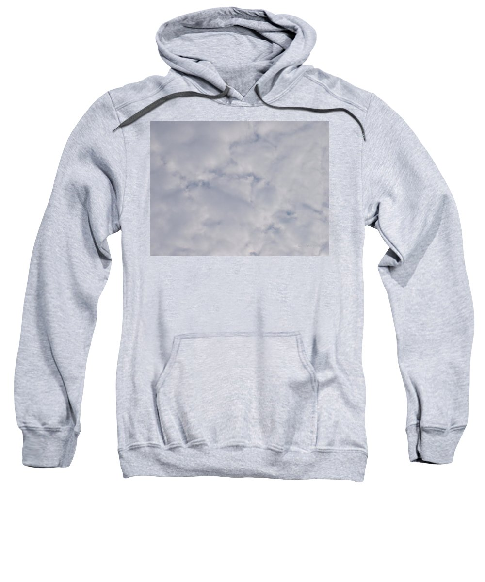 Clouds Sweatshirt featuring the photograph Cloud Mass - Fist Holding Arrowhead - Look Closely by Deborah Crew-Johnson