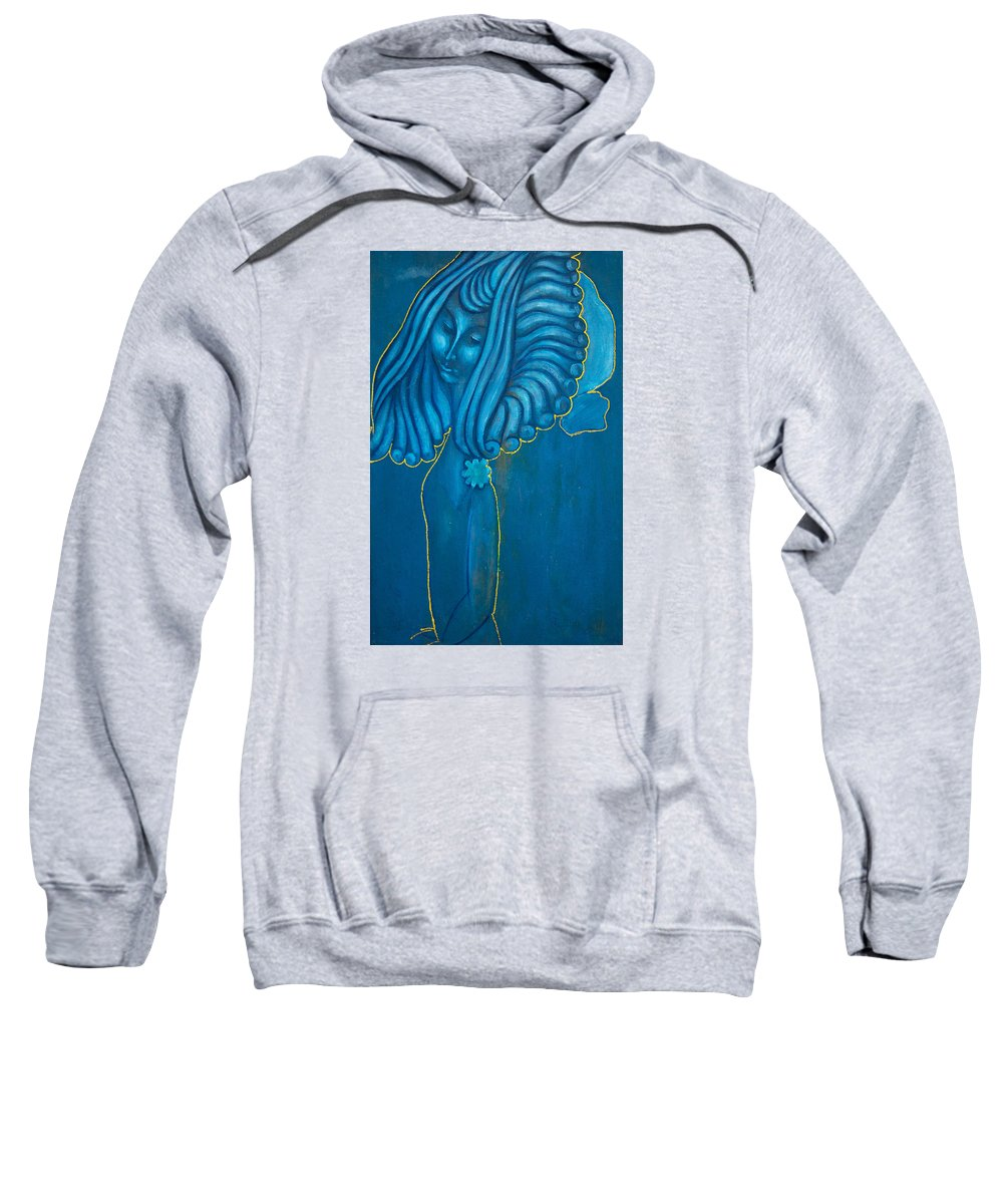 Abstract Sweatshirt featuring the painting Cloud by Nikolay Malafeev