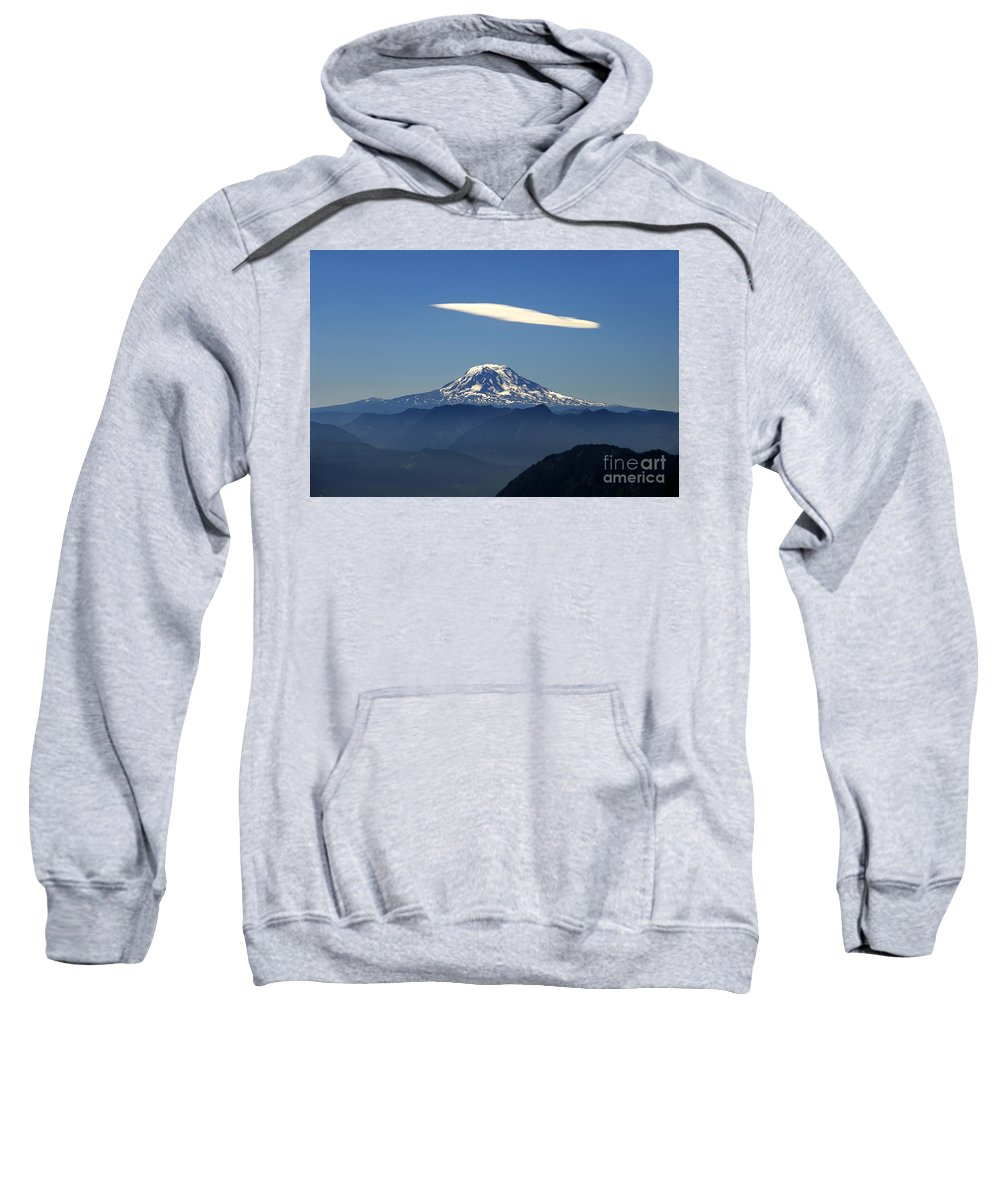 Mount Adams Sweatshirt featuring the photograph Cloud Over Adams by David Lee Thompson