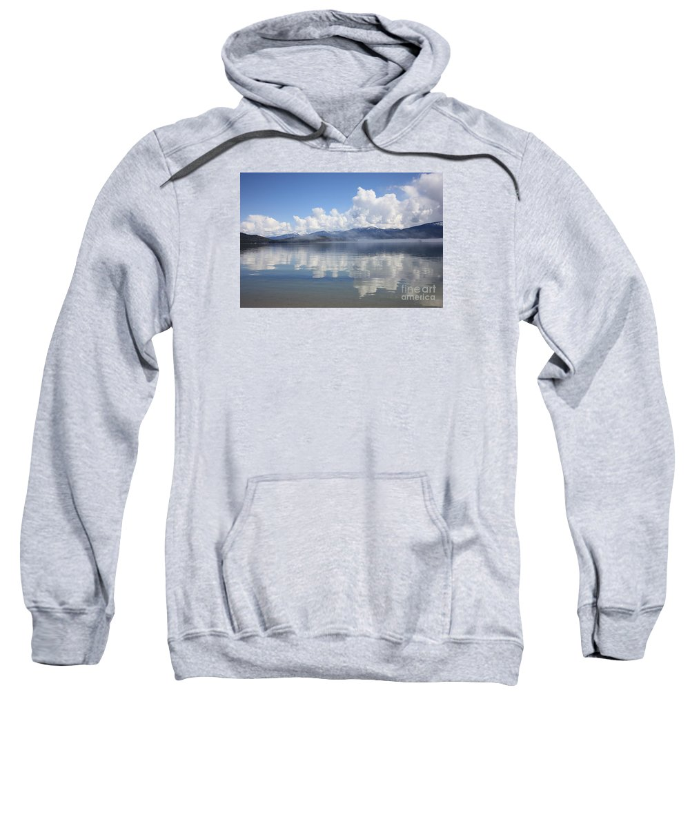 Clouds Sweatshirt featuring the photograph Cloud Reflection On Priest Lake by Carol Groenen