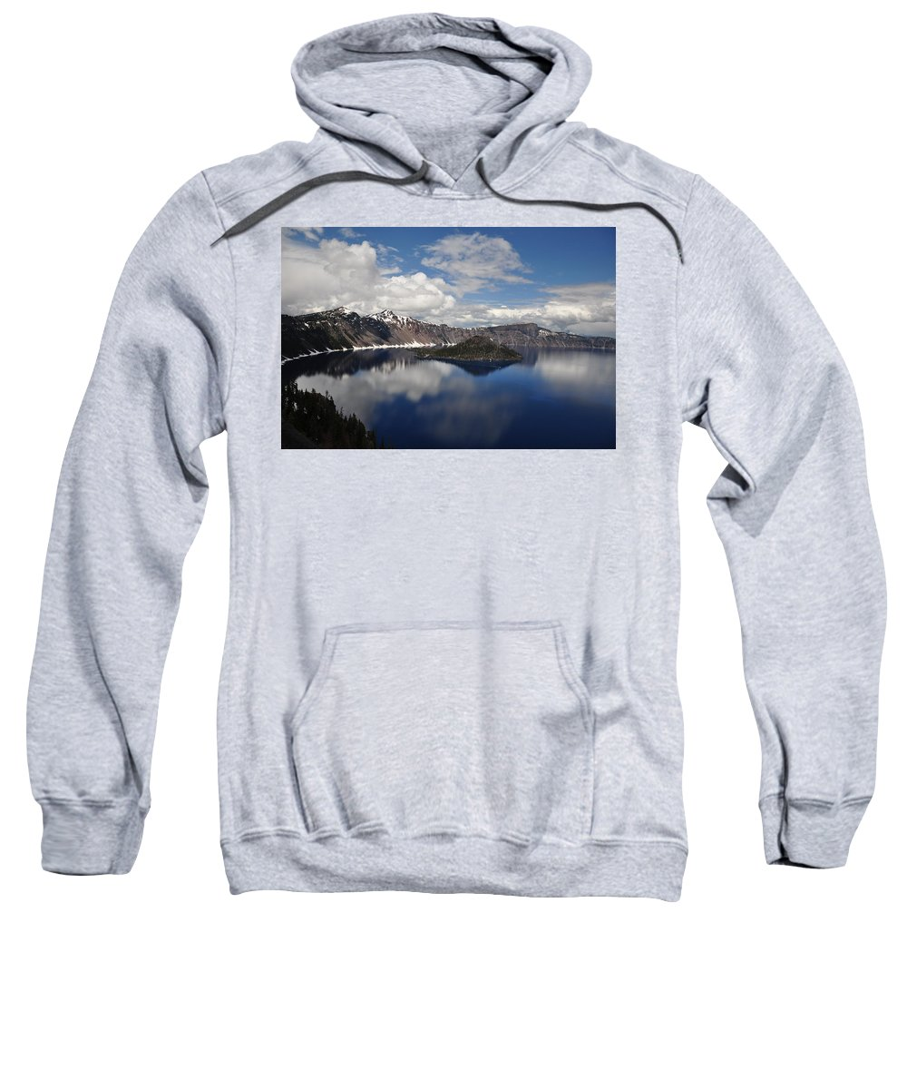 Lake Sweatshirt featuring the photograph Cloud Reflections by Terry Anderson