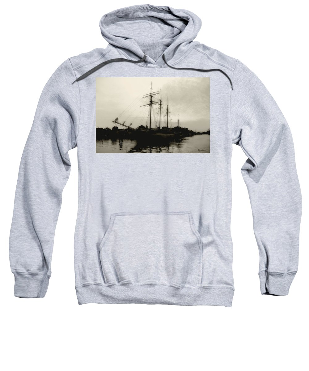 River Sweatshirt featuring the photograph Clouding Up by RC DeWinter